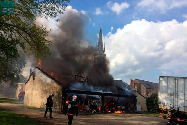 Incendie à Notre-Dame-du-Chêne