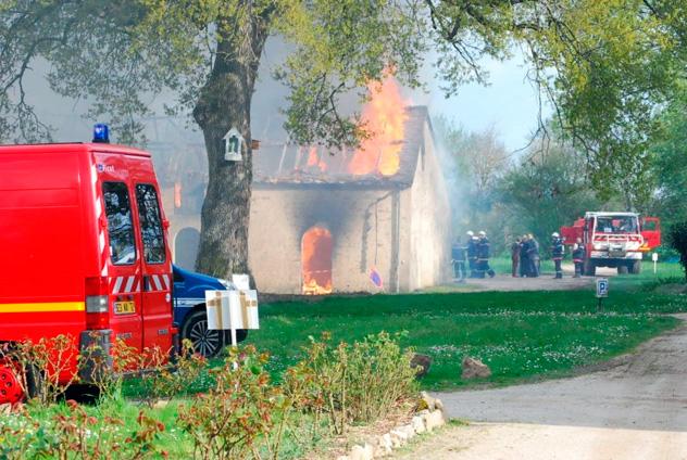 Incendie à Notre-Dame du Chêne