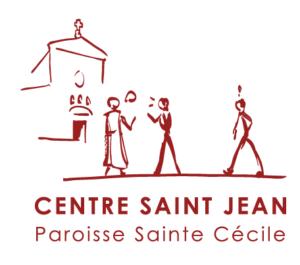 Logo Centre Saint-Jean, Paroisse Sainte-Cécile, Boulogne-Billancourt