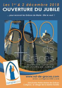 Jubilé du 500 e anniversaire des apparitions de la Vierge Marie à Notre-Dame de Grâces à Cotignac - Frères de Saint-Jean