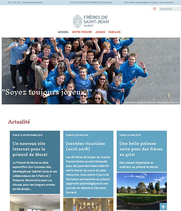 Nouveau site internet des Frères de Saint-Jean à Murat