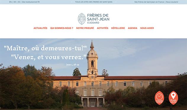 Nouveau site internet des Frères de Saint-Jean à St Jodard