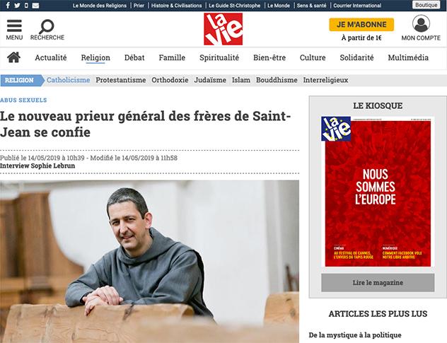 Revue de presse des Frères de Saint-Jean