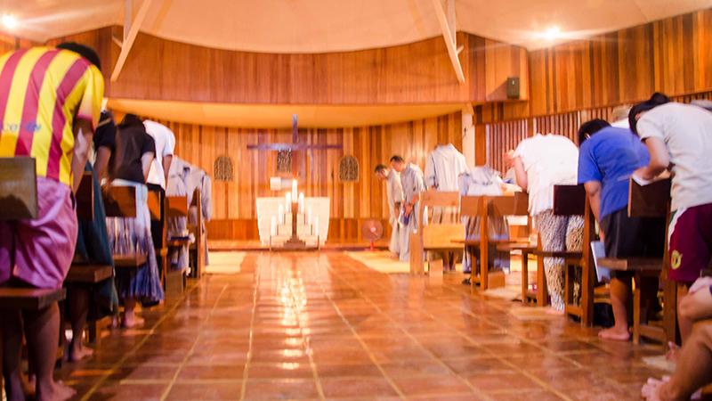 Chapelle des Frères de Saint-Jean à Cebu en 1995