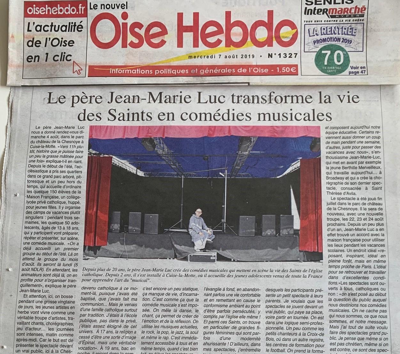 Article Oise Hebdo du Père Jean-Marie-Luc