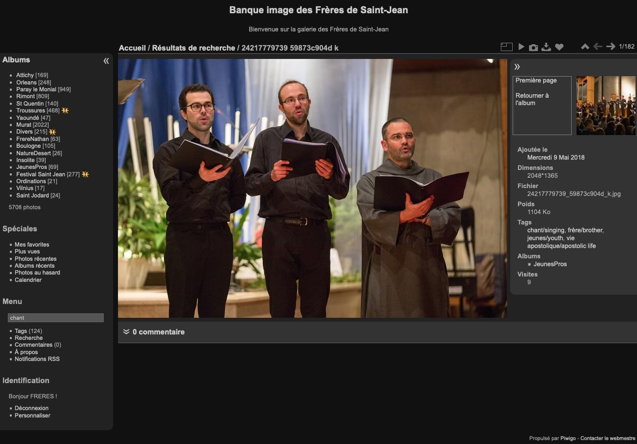 Capture de la banque d'image des Frères de Saint-Jean