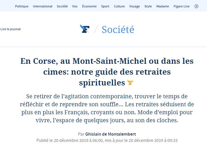Article du Figaro sur Corbara