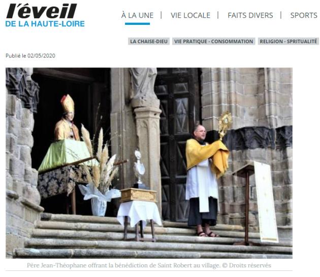 Article sur la fête de Saint Robert à la Chaise-Dieu