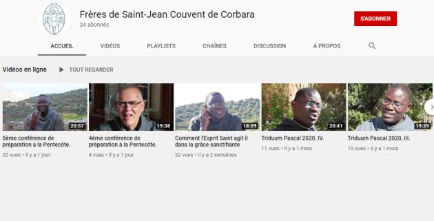 Capture d'écran de la chaîne Youtube des frères de Corbara