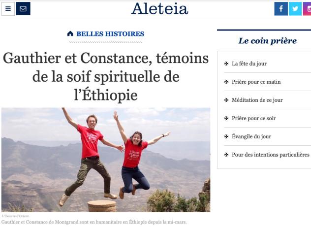 Volontaires de l'Oeuvre d'Orient à Addis-Abeba