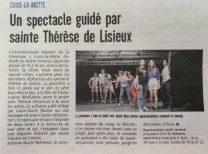 Article comédie musicale Thérèse de Lisieux