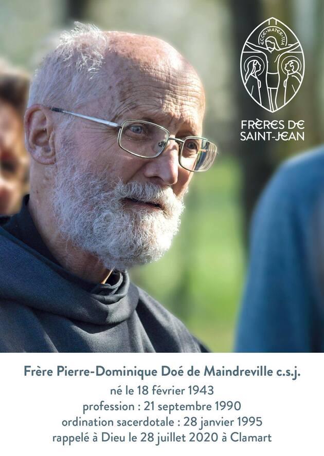Décès de frère Pierre-Dominique