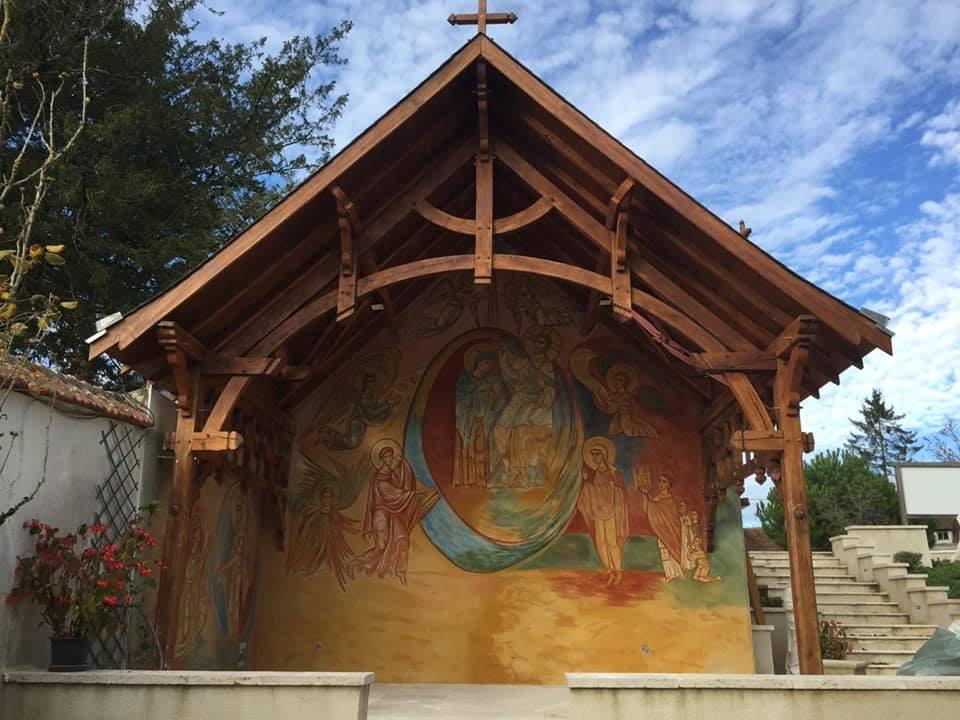 Fresque du père Jea-Baptiste Garrigou à Pellevoisin