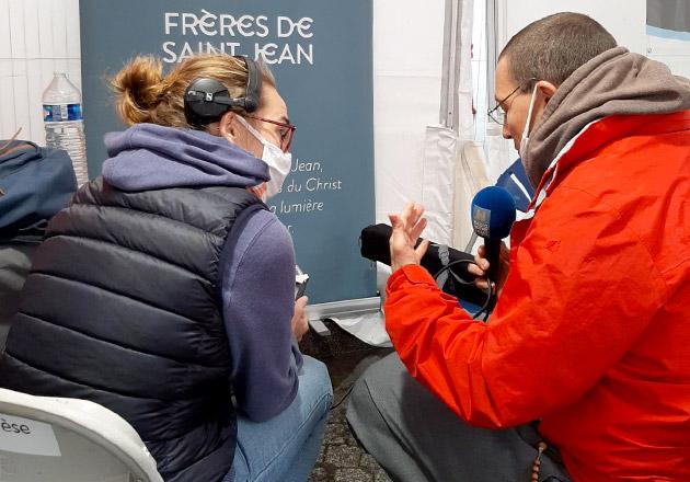 Enregistrement de l'émission Oxygène, Radio Notre-Dame